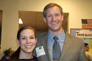 Spring for the Kids fundraiser attendees Jane Stevens of Northwestern Mutual with her husband, Nate, a commercial broker with CBRE The Boulos Company in Portland.