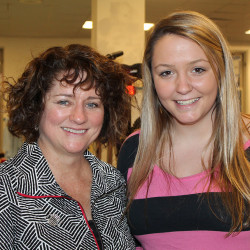 Boys & Girls Clubs of Southern Maine board president Sharon Sudbay with Brianna Holdren, a freshman at St. Joseph's College and State Youth of the Year for 2014-2015, at the annual Spring for the Kids fundraiser in Portland.