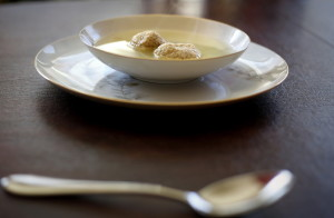 Dan Skwire of Portland makes chicken soup with matzo balls every year for Passover in memory of his grandmother, Ida.