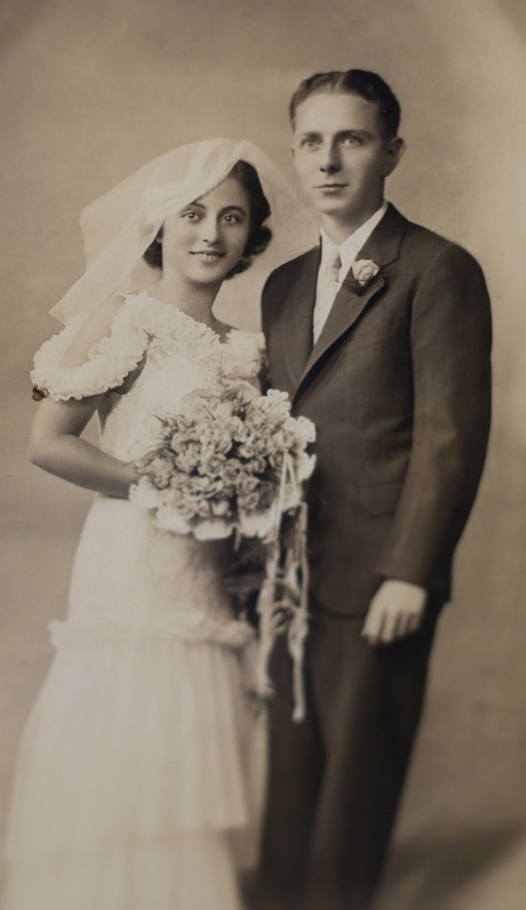 Ida and Raymond Skwire, newly married. (Contributed photo)