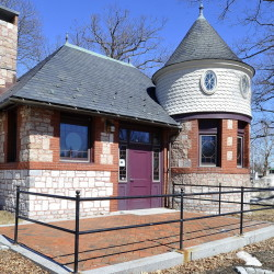 The brick-and-granite castle building in Deering Oaks park has 750 square feet of interior space. Its designation as a historic building would limit the permissible modifications in turning it into a cafe.