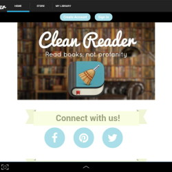 The Clean Reader interface.