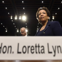 Attorney General nominee Loretta Lynch waits for a confirmation vote as the Senate first considers Medicare funding and a potential Iran nuclear deal.