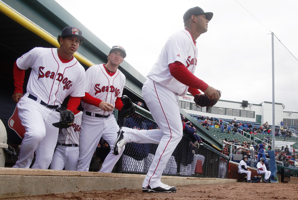 No more snow, no more winter (except for a biting wind) but plenty of baseball Saturday as the Portland Sea Dogs charge onto the field to start a season-opening doubleheader with the Reading Fightin Phils.
