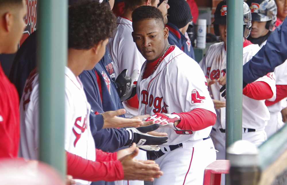 Keury De La Cruz started his season in an oh-so-perfect manner, hitting a three-run homer for the Sea Dogs in the first inning of the first game. Portland split a doubleheader.