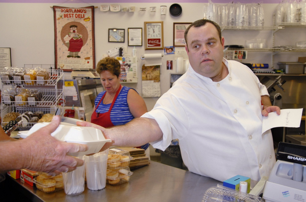 David Rosen owned the Full Belly Deli in Portland. When that closed, he opened  Rosen's Deli, in Westbrook.