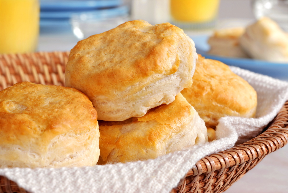 Al Mather normally makes his biscuit cutters in diameters ranging from 2½ inches to 3   inches. He has been known, however, to accommodate customers who want to make bigger biscuits.
