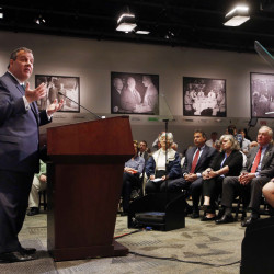 New Jersey Gov. Chris Christie called for Medicare and Social Security reform at Saint Anselm College on Tuesday.