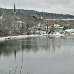 Rain forecast for next week has raised the possibility of flooding on the Kennebec River.