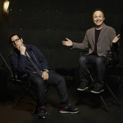 """Josh Gad and Billy Crystal star in """"The Comedians."""""""