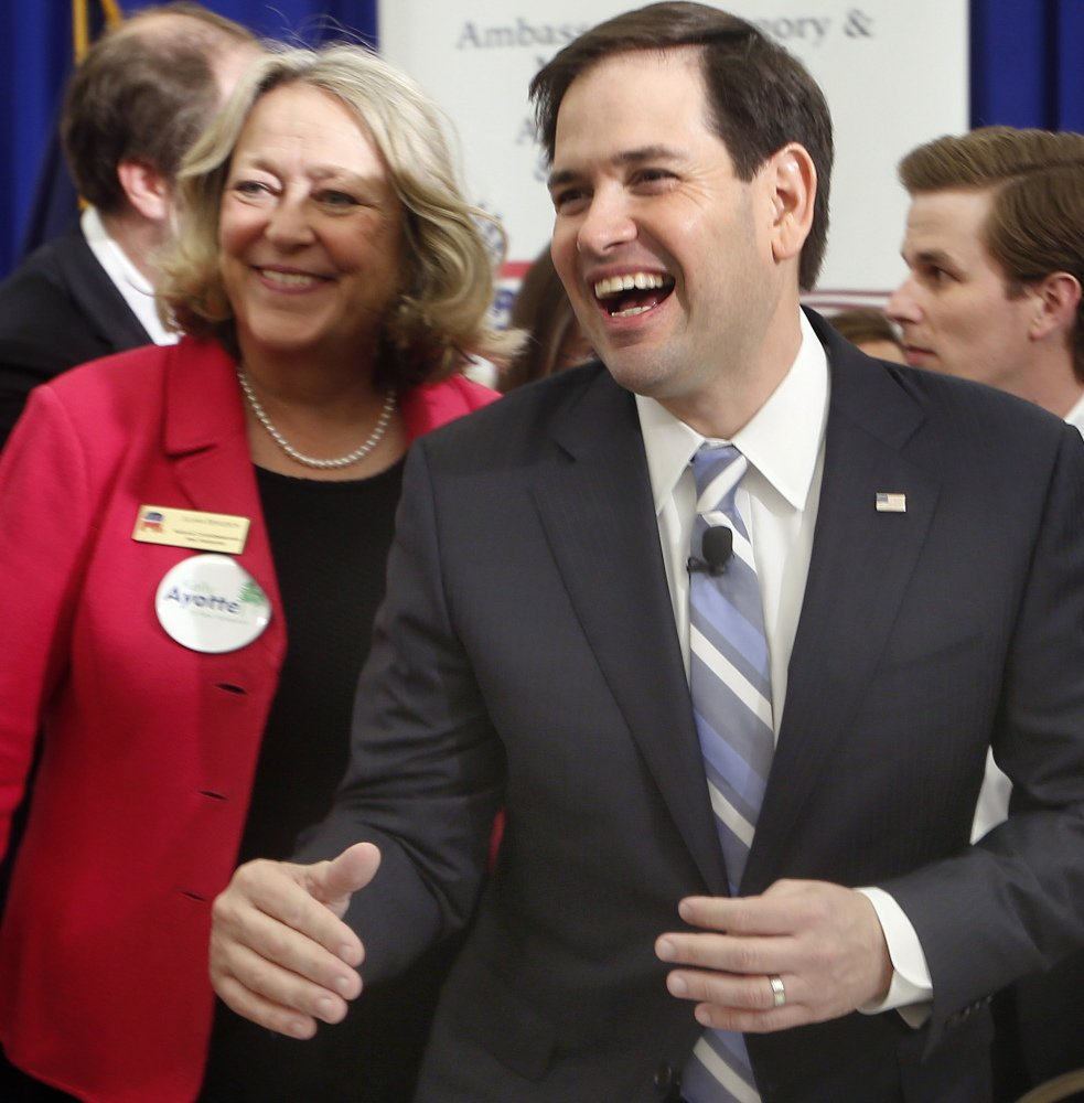 Sen. Marco Rubio made his pitch to the New Hampshire primary voters on Friday.
