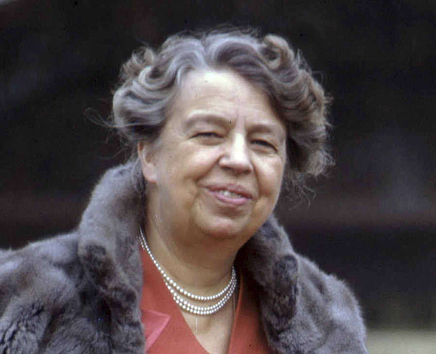 FILE - In this February 1943 file photo, first lady Eleanor Roosevelt poses on the White House lawn in Washington. Sen. Jeanne Shaheen, D-NH, filed legislation Tuesday, April 14, to create a citizens panel to recommend an appropriate woman candidate to be put on a $20 bill. Roosevelt is among the women suggested by a group promoting the effort. (AP Photo, File)