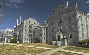 The Stone complex at the former Augusta Mental Health Institute in Augusta would be renovated for use as state office space under a proposal in the state budget.