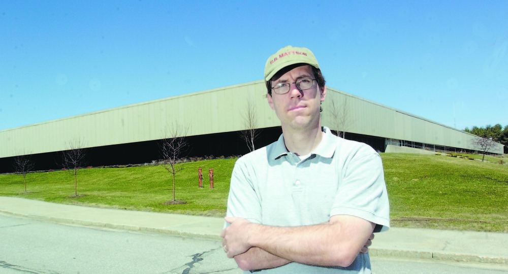 Developer Kevin Mattson stands in front of the Central Maine Commerce Center in north Augusta in 2005. Mattson says a state proposal to move state offices out of the 300,00-plus square foot building could hurt the city's ecoconomy.