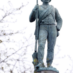 The statue atop The Confederate Soldiers and Sailors Monument in Richmond, Va., is one of thousands on Civil War monuments in more than 30 states.