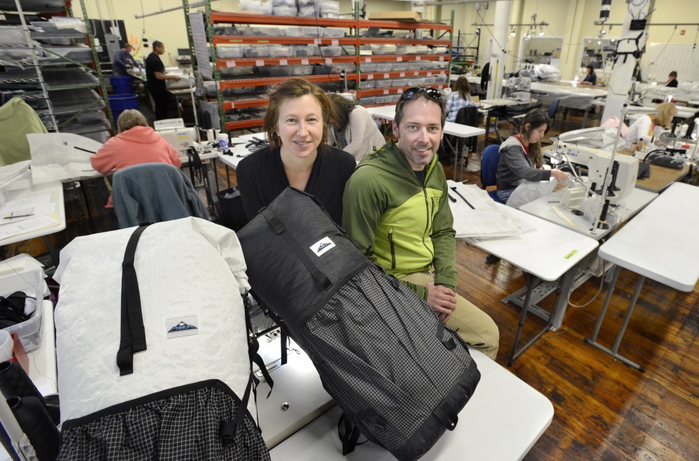 Hyperlite Mountain Gear CEO Mike St. Pierre and marketing manager Lizzy Scully rely on athletes who use their gear and tag the brand on social media.