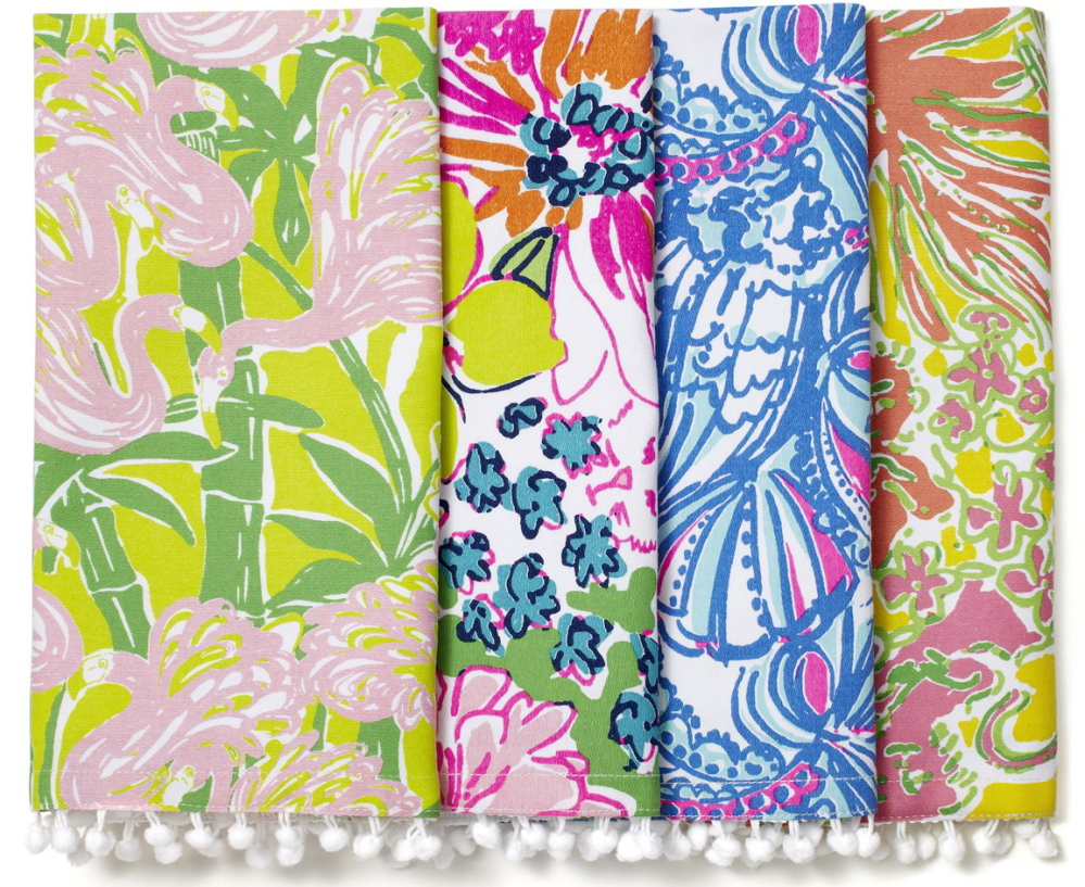 Cloth napkins from Target's Lilly Pulitzer collection come in the brand's signature colorful prints.