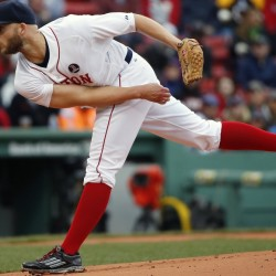 Justin Masterson gave the Boston Red Sox five decent innings Monday, which was just what the team needed on a raw day at Fenway Park.