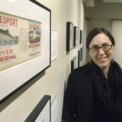 "Jamie Kingman Rice, director of library services at the Maine Historical Society, and curator of ""Sugar and Spice."""