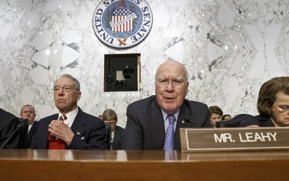 Sen. Patrick Leahy, D-Vt., says he opposes any bill that does not offer meaningful reform to NSA phone record collection.