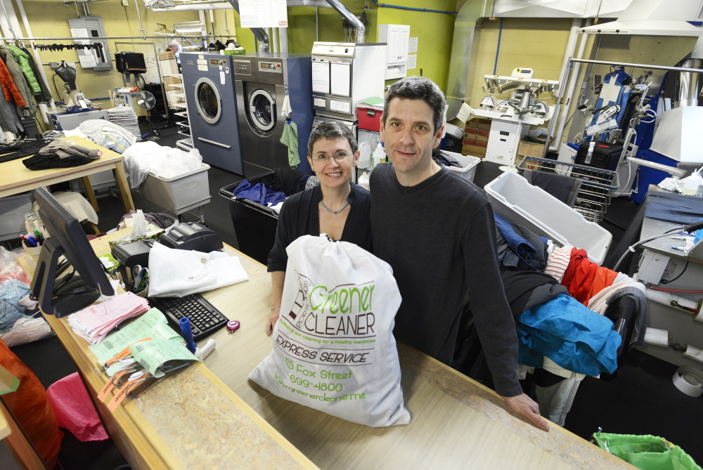 Jason Wentworth and his wife, Sandrine Chabert, own and operate Portland's Greener Cleaner.