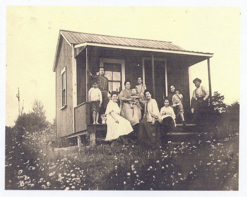 This photo shows Picher family members at their camp on Webber Pond in Vassalboro. John Picher and his wife, Bonnie, of Vassalboro, eventually added on to the camp, and it was their first home after they were married.