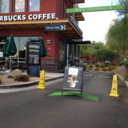 A Starbucks store closes Friday in Phoenix because of computer issues. Starbucks says a sales register computer glitch disrupted sales at company-operated stores in the United States and Canada.