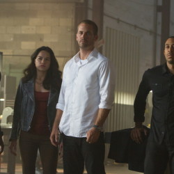 """Furious 7"" has ruled the box office for the last month. The cast includes, from left, Tyrese Gibson, Michelle Rodriguez, Paul Walker and Chris Bridges."