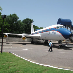 The Lisa Marie, one of two jets once owned by Elvis Presley, will remain at Graceland in Memphis, Tenn.
