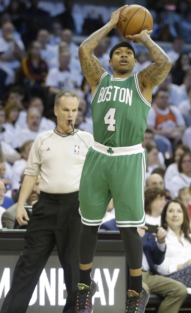Isaiah Thomas was a big part of the Celtics' late-season surge after being acquired in December. Boston went 20-11 after the All-Star break.