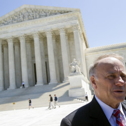 Rep. Steve King, R-Iowa, speaks with reporters in front of the Supreme Court in Washington on Tuesday.