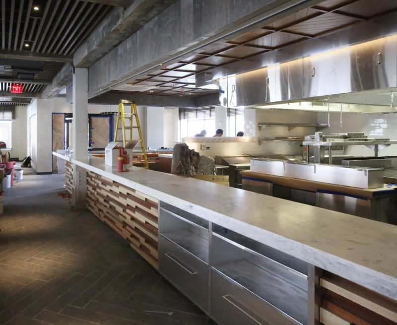 M.C. Union restaurant at the Press Hotel is in the final stages of construction.
