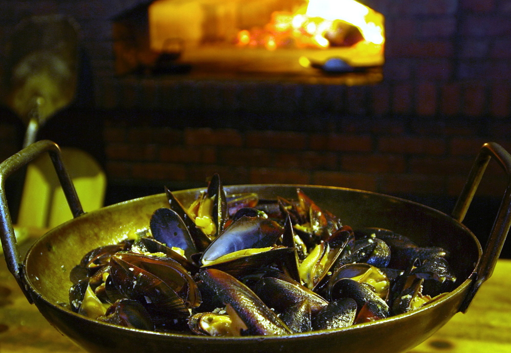 Roasted Maine mussels at Fore Street.