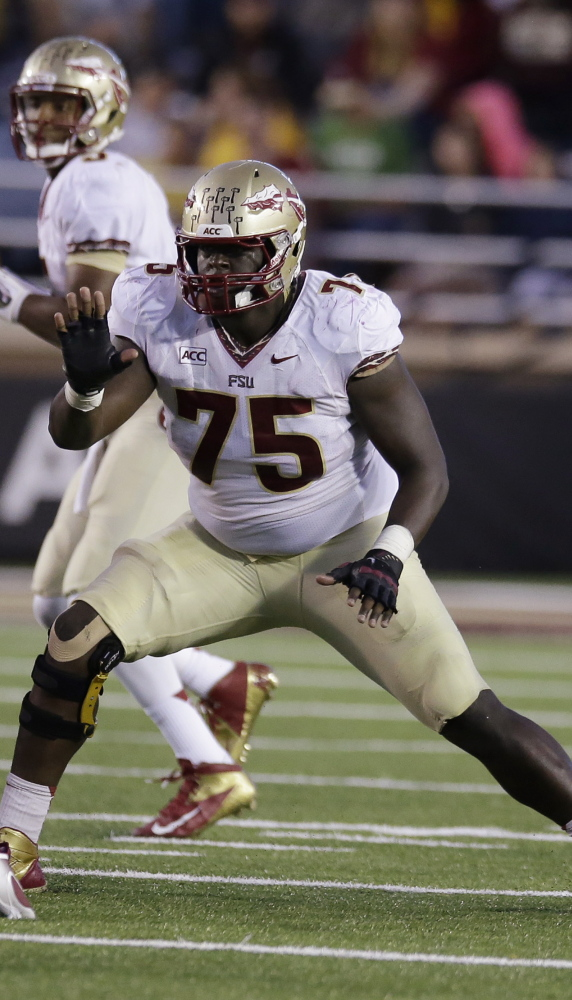 Florida State guard/center Cameron Erving is projected to be a first-round pick, so the Patriots may need to move up in the draft if they want him.