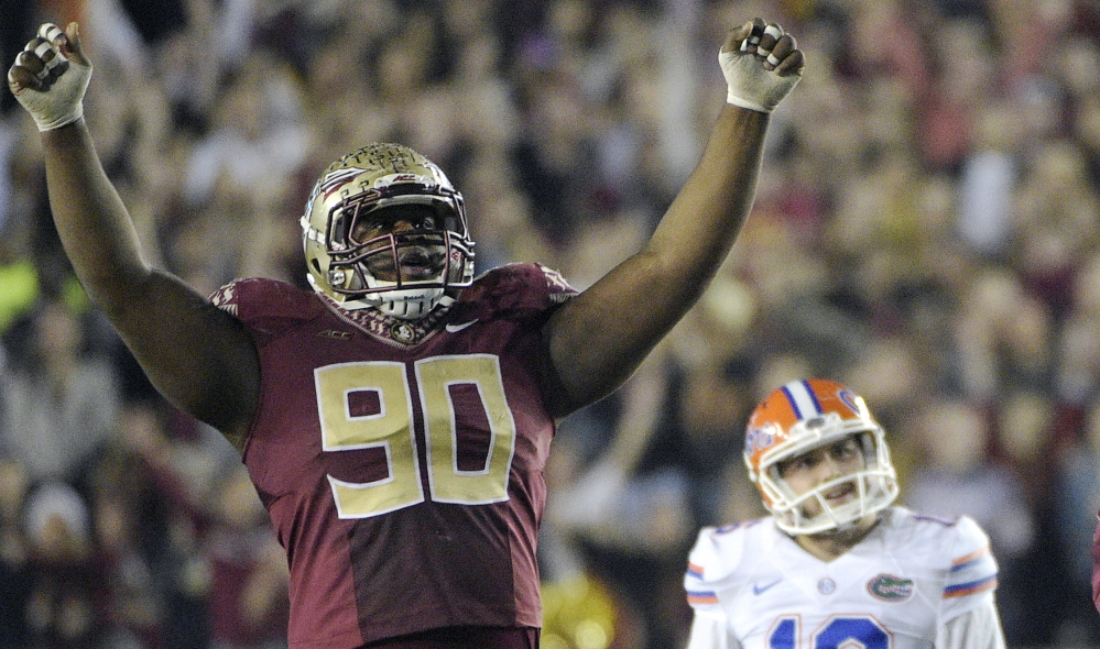 Coach Bill Belichick loves defensive players so it would not be surprising to see the New England Patriots select Florida State defensive tackle Eddie Goldman if he is available.