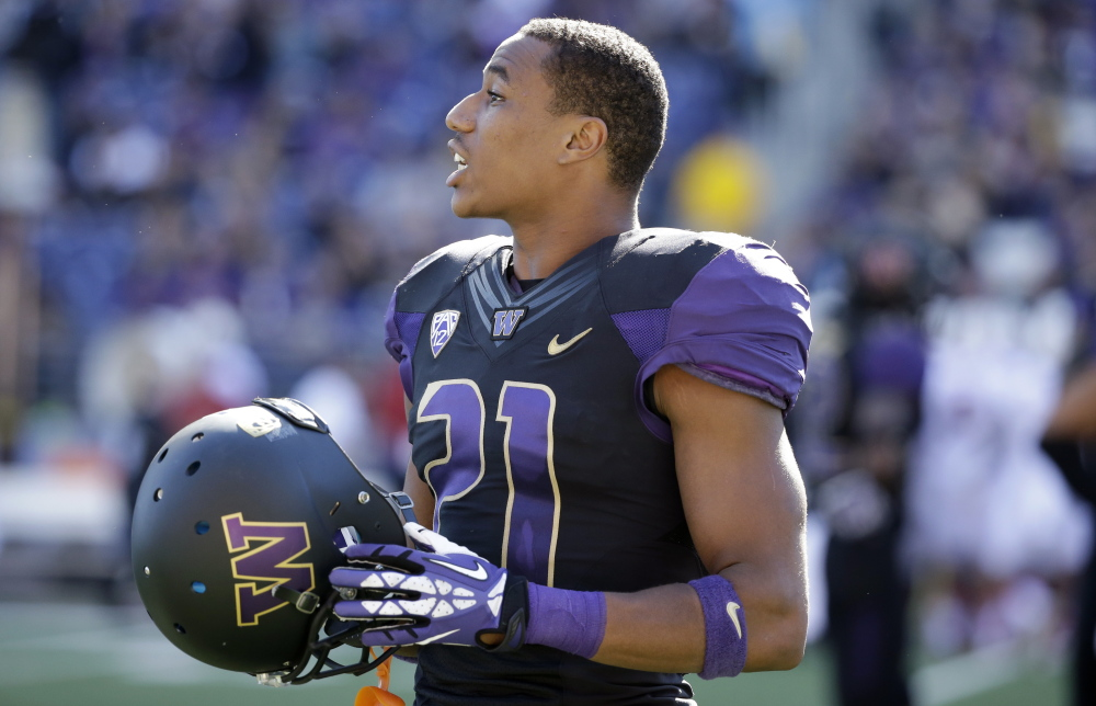 Cornerback Marcus Peters of Washington enters the draft with some baggage – he was suspended for one game and later dismissed from the team last fall following a confrontation with an assistant coach.