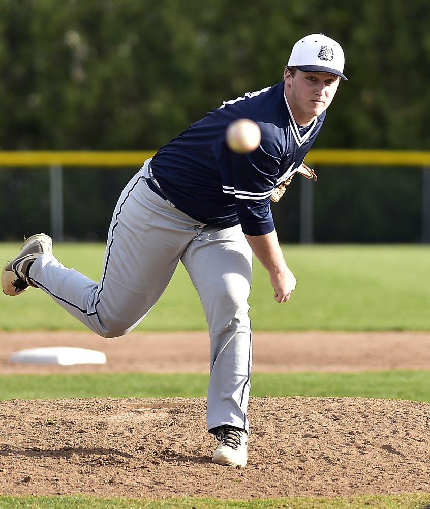 Reliever Ryan Ruhlin got the win on Tuesday as Portland beat Windham, 4-2. The Bulldogs are off to a 2-0 start in Coach's Mike Rutherford's return.