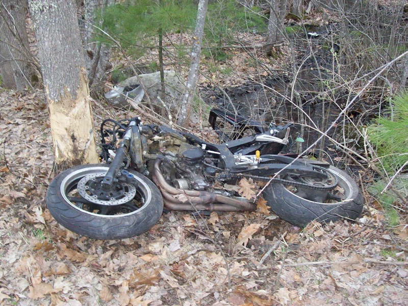 Wade Kennedy of Standish was seriously injured Wednesday after his motorcycle collided with a deer on Cape Road.