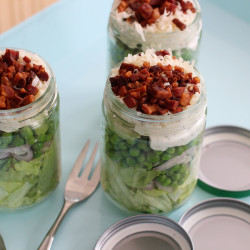 Seven-layer Mason jar salad