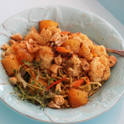 Sweet and sour cashew cauliflower