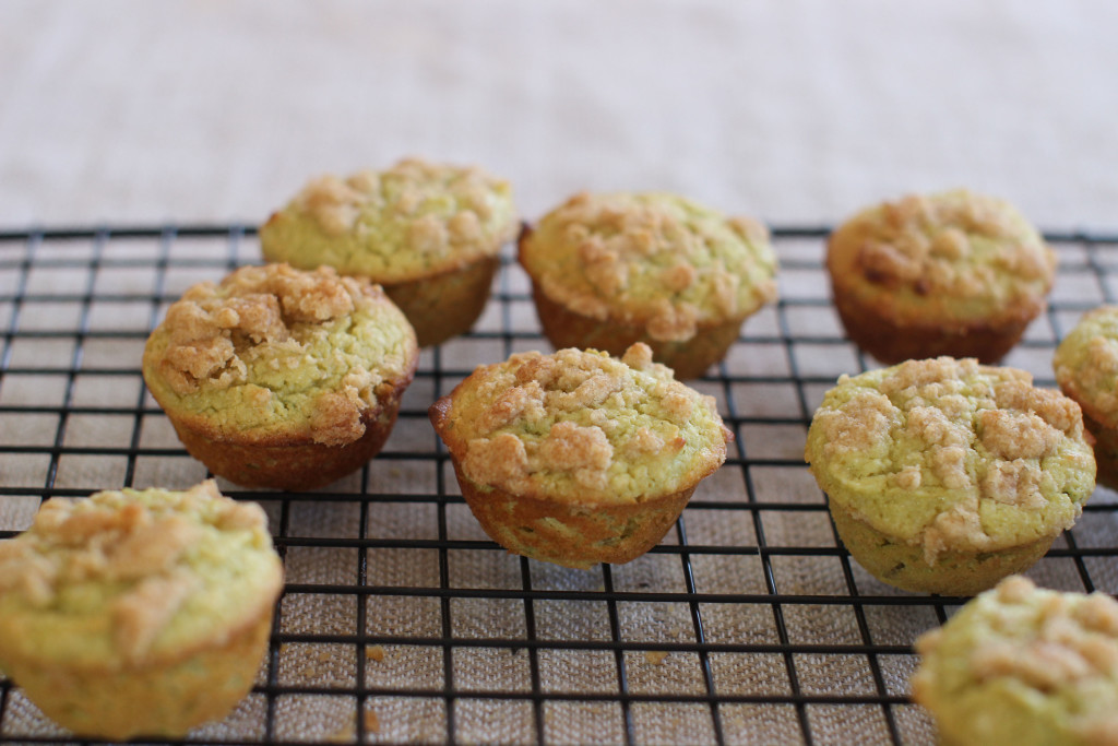 Lime and avocado streusel mini muffins. Avocados are bursting with healthy fats that satisfy, as well as fiber that fills you up. They  also can be used in baked goods in place of other fats.