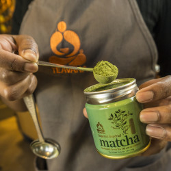 Teavana barista Riaunna Durham prepares matcha tea at the new Teavana Fine Teas + Tea Bar in Beverly Hills, Calif. Riding the growing surge in U.S. tea consumption, sales have multiplied by more than five times since 1990. Matcha is being hailed for its health benefits and sold everywhere from grocery stores to high-end tea rooms and restaurants.