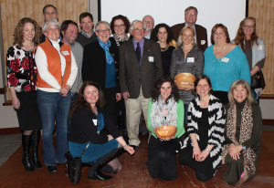 The Source Award winners and presenters gathered for a photo at Pineland Farms.