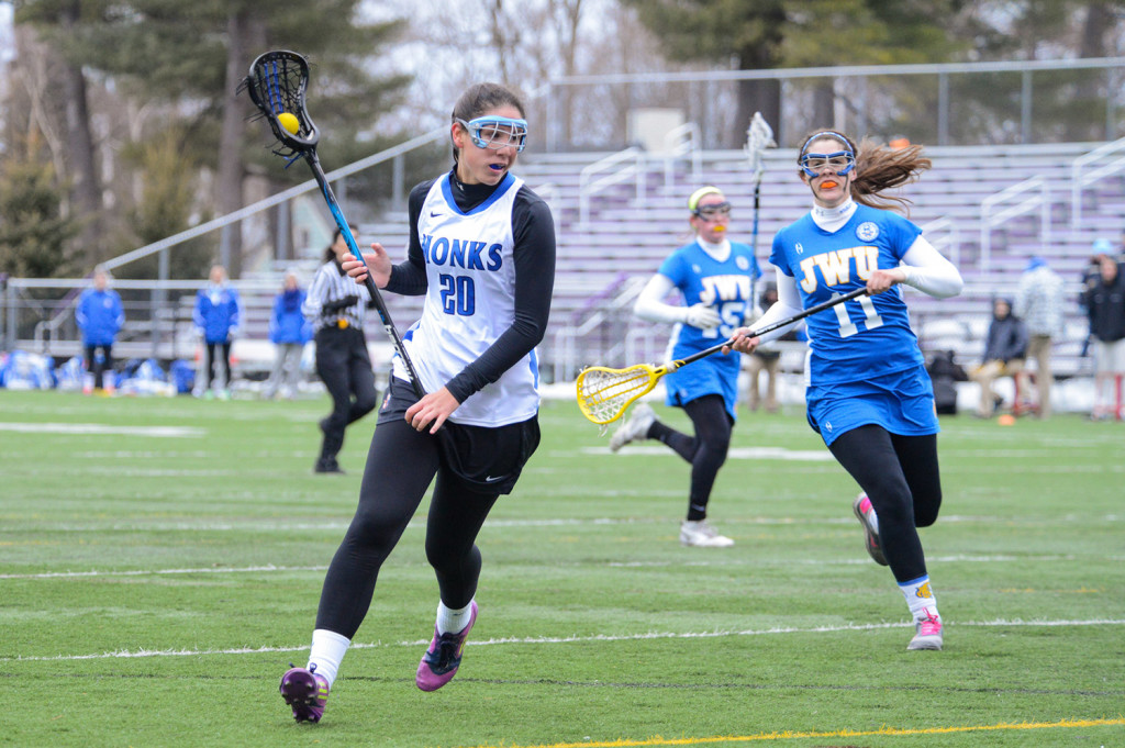 Mary Leasure of South Portland was one of the leading scorers on the St. Joseph's College women's lacrosse team.