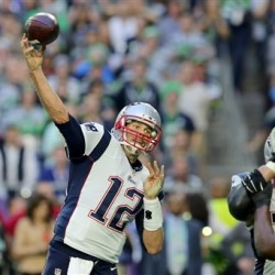 Patriots quarterback Tom Brady throws during the NFL Super Bowl on Feb. 1. The Associated Press