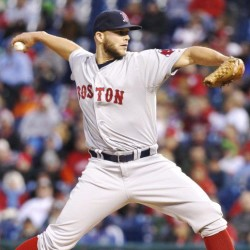 Red Sox starting pitcher Justin Masterson throws a pitch in the first inning of Boston's win Thursday night against the Philadelphia Phillies. The Associated Press
