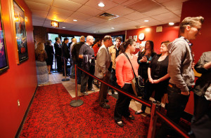 "The crowd waits for the door to open for the premiere of ""Night of the Living Deb"" at the Nickelodeon Cinemas. Director Kyle Rankin, a York native, organized the invitation-only premiere so local people could see what they helped make last summer."