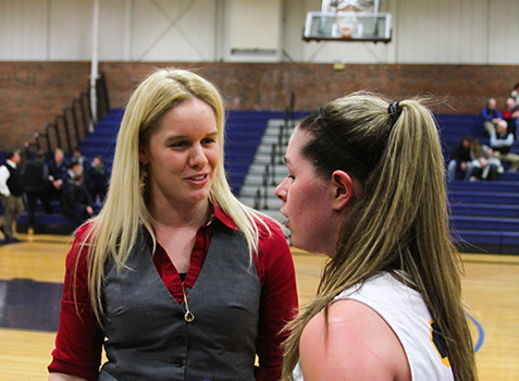 Samantha Allen, left, has five years of college coaching experience, including two at Division I University of Vermont.