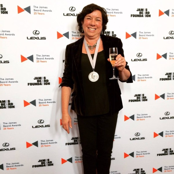 Food writer Kathy Gunst of South Berwick was Maine's only James Beard Award recipient this year. At the foundation's Book, Broadcast and Journalism Awards, held on April 24 in New York City, she won the Home Cooking category for