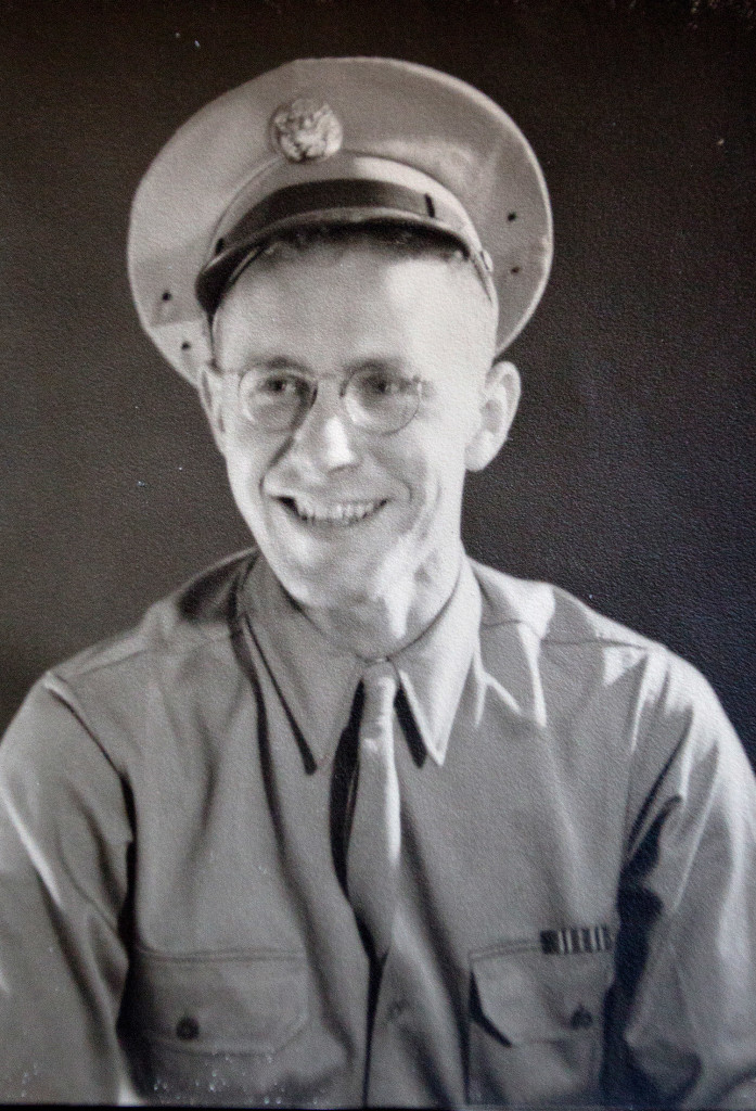 "George Watson, in his official military photo from 1941. ""I don't feel special"" for serving, he said. ""I think there was a war and I served because that's what you did."""